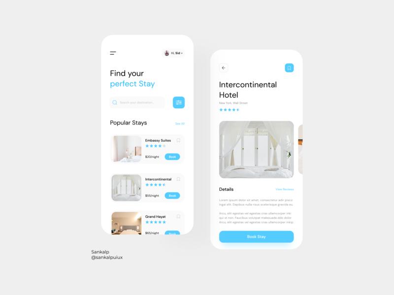 Hotel Booking App uidesigner uiuxdesigner uiux figma appdesign uidesigns uiuxdesign uidesign uitrends ux app ui design