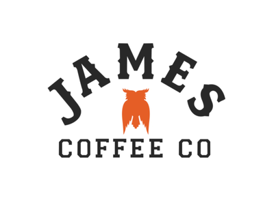 James Coffee Company: Logo Animation coffee animal mascot owl after effects logo motion design animated logo 2d animation logo animation vector animation motion graphics coffee shop