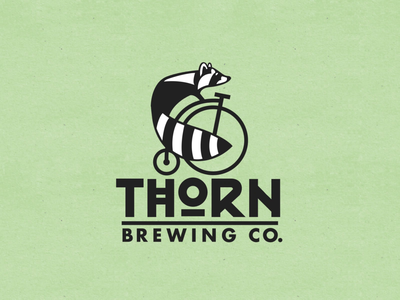 Thorn Brewing Company: Logo Animation motion design animated logo logo 2d animation after effects vector animation motion graphics raccoon mascot thorn brewing microbrew brewery logo animation