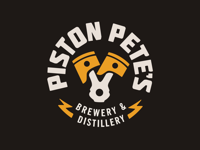 Piston Pete's Brewery: Logo Animation masculine racing dark motion design animated logo after effects vector animation motion graphics brewery logo animation