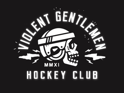Violent Gentlemen Clothing Company: Hockey Animation 2d animation vector animation bradleyconners violentgentlemen nowherelandsupply skulls motion design hockey clothing brand logo animation