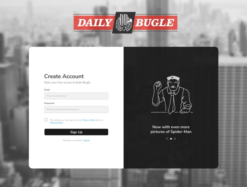 Daily UI 001 - Sign Up Page vector minimal website illustration web branding logo ui design