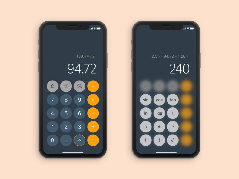 Daily UI 004 - Calculator app typography minimal vector ui design