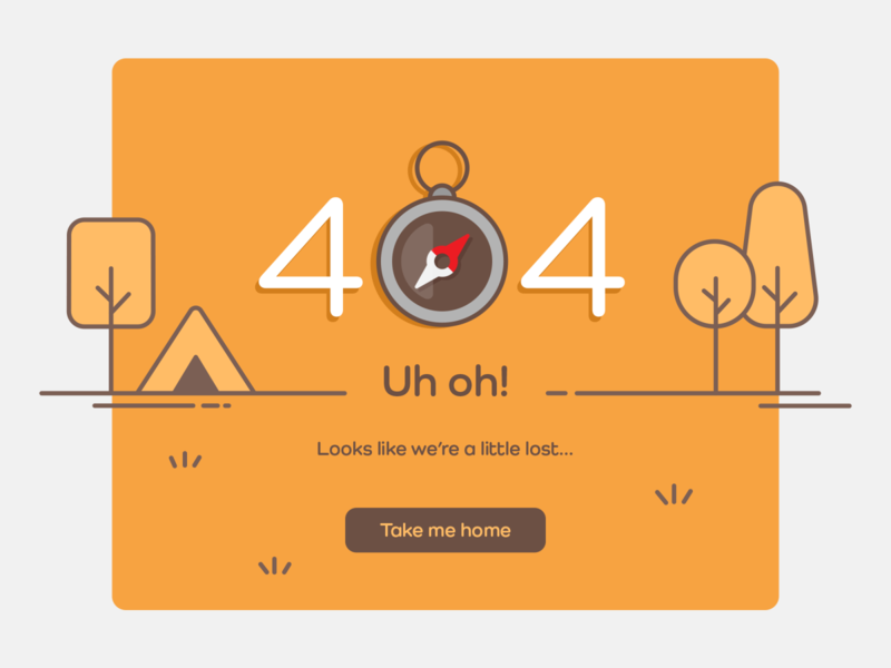 Daily UI 008 - 404 website illustrator icon flat illustration minimal vector ui design