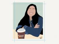 Philz Coffee Illustration drawing person sketch doodle coffee ipad pro illustration apple pencil