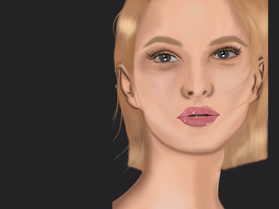 Portrait digital art draw vector branding illustration ipad digital design drawing artist