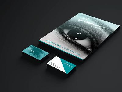 Queen Cosmetics   Business Document & Business Card Mockup branding design cover design business card business makeup