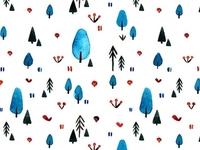 Blue Forest Pattern