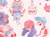 Mauve Doodles