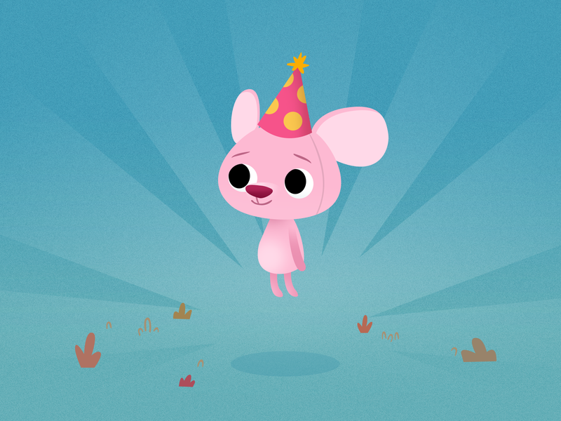 Little Birthday Mouse characterdesign gameart art character illustration cute animals animals mouse