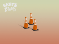 Skate Bums - Game objects (Traffic cones)