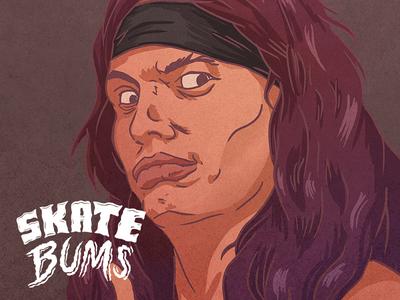 Skate Bums posters - Billy sketch skateboarding skateboard skate posters portraits indygame illustration gameart design artwork art