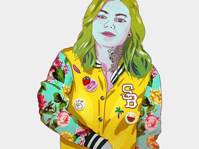 Street portraits - Louane design drawing artist artwork art music celebrity character portrait illustration