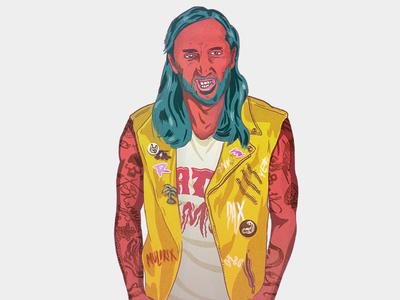 Street portraits - David Guetta portrait music illustration drawing design character celebrity artwork artist art