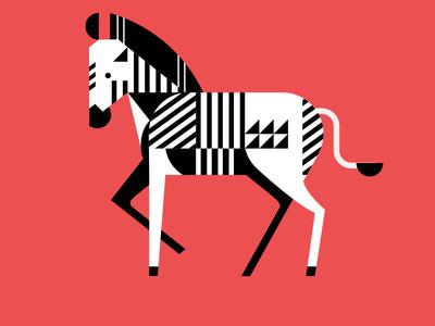 Geometric Zebra art shapes geometric graphic design illustration zebra animals
