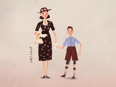 'Screen Moms' (2/5) - Mrs Gump sally field run forrest run forrest gump mothers day mom women 90s film procreate ipad digital art illustration