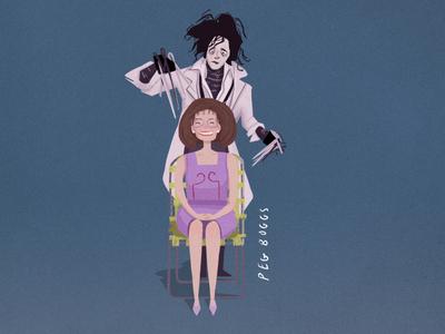 'Screen Moms' (4/5) - Peg Boggs johnny depp edward scissorhands mothers day mom women 90s film procreate ipad digital art illustration