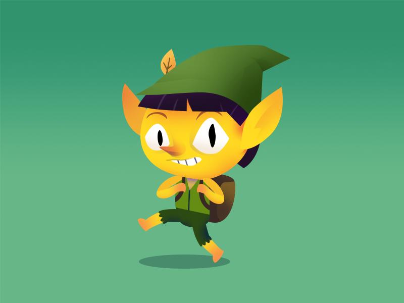 Little wood elf nature woods forest characters characterdesign elf design gameart sketch illustration