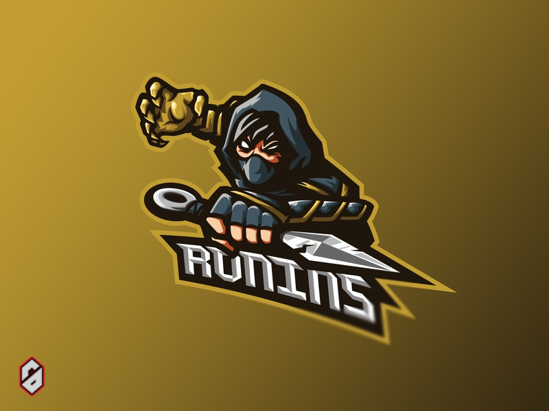 Ronins Mascot Esports For Sale mascot logo mascot brand identity branding call of duty fortnite dota 2 gamer stream streaming logo sports logo esports logo esports gaming logo gaming logo vector illustration design epsorts