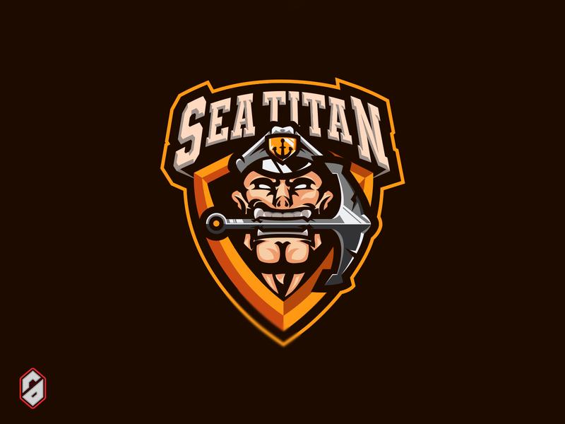 Sea Titan Mascot Gaming/Sports Logo For Sale! streamers affordable logo sports logo sports gaming mascot mascot streaming logo gaming logo gamer gaming fortnite esports logo esports epsorts dota 2 design call of duty branding brand identity