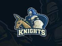 Knights Esport Mascot For Sale sports mascot logo branding stream brand identity sports logo mascot logo gaming logo gaming gamer fortnite esports logo esports epsorts