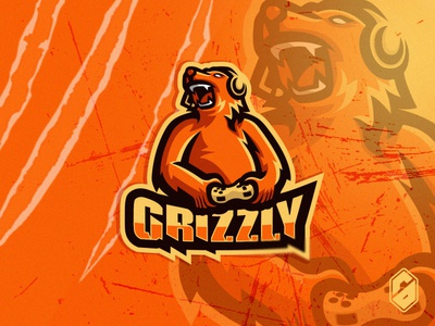 Grizzly mascotlogo mascot gamers logo streaming logo streaming stream branding sports gaming sports logo gaming logo gamer esports logo epsorts brand identity