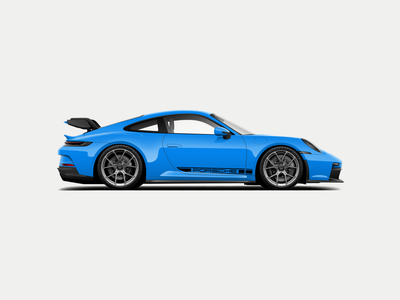 992 GT3 Vector Illustration illustrator vector illustration vector art illustration exotic car sports car porsche gt3 911 porsche 911 automotive car vector gt3 porsche