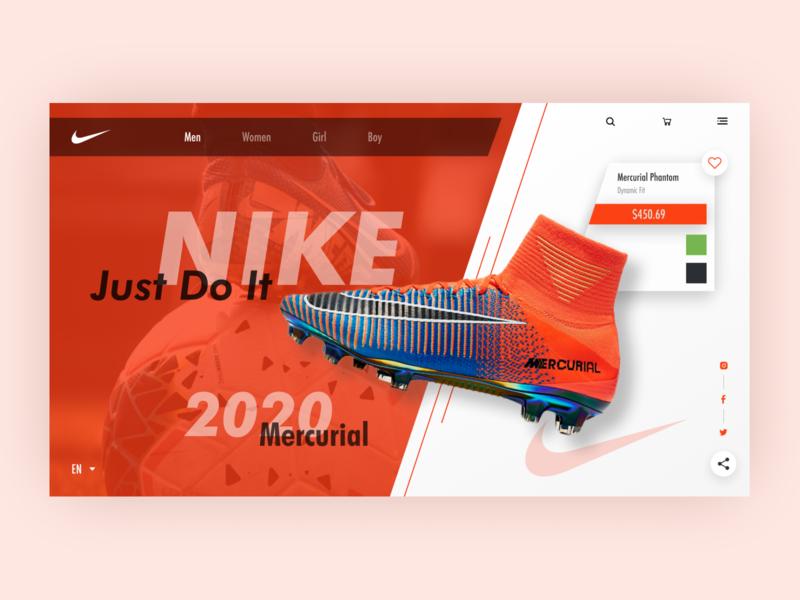 Nike E-commerce Website Redesign ui ui design nike shoes nike branding figma web design ecommerce design clean design