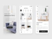 Furniture App - Minimal Concept furniture app minimal design clean design mobile app design mobile app figma ui ui design design
