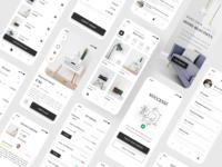 Full Furniture App - Minimal Concept minimal furniture app ecommerce clean design mobile app design mobile app figma ui ui design