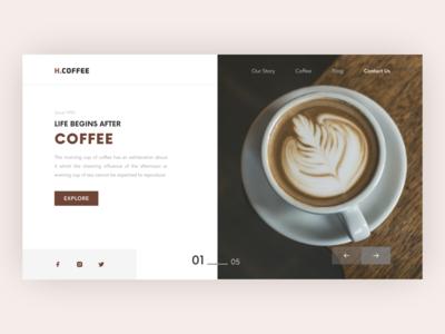 Coffee Website Design coffee branding web design clean design figma ui design ui