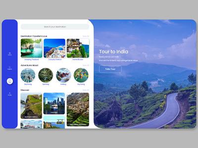Trip Planner & Booking App adventure clean ui userinterfaces website design adobe xd bookingapp trip planner
