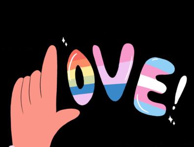 LOVE PRIDE COLLECTION textures illustrations pride pridemonth illustrator photoshop illustration illustration art design