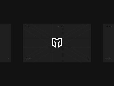 Gym Massive Branding badge identity symbol monogram logo brand design branding