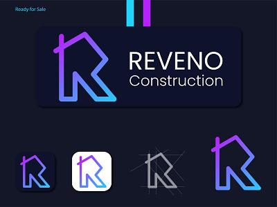 Modern R Letter Real Estate Logo l Construction Logo l vector app design logo creative logo