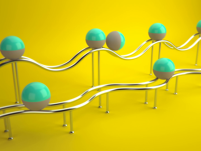 Rolly Ball Loop stress meditation gif loop animation visualization cgi 3d