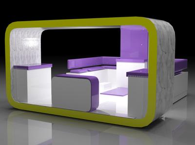Purple stand stand architecture design