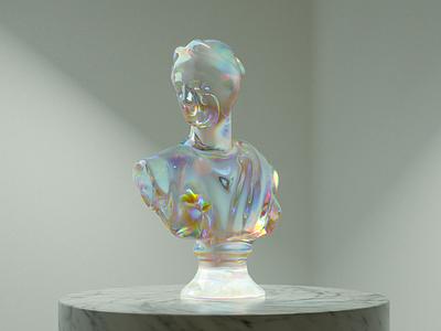 Roman statue 3d
