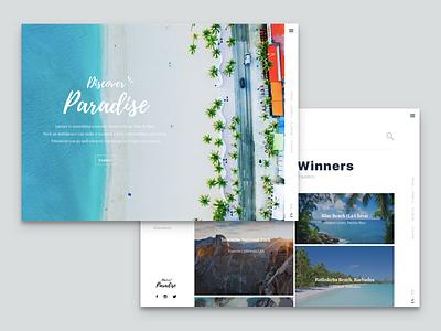 Discover Paradise travel web ui