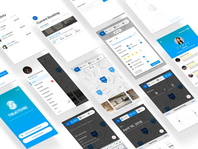 Storage Hire clean mobile ios booking hire ui