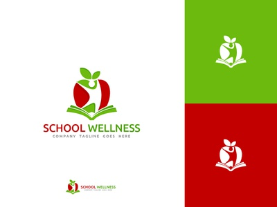 School Wellness Logo Design Template graphicdesigner businesscards graphicdesign businesscard