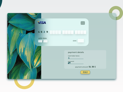CreditCardCheckout glass-card visa card payment credit card checkout credit card creditcardcheckout creditcard branding plants icon typography design website web ux ui