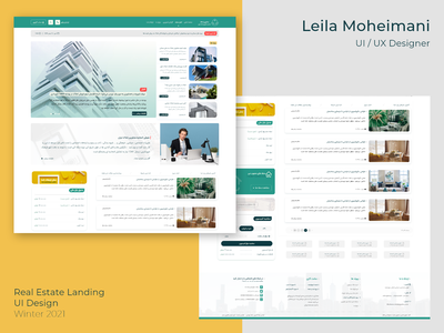 Real Estate Landing real estate landing real estate landing page real estate ui ui design landingpage webpage real estate realestate landing minimal website ux ui design