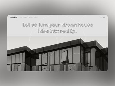 UI Exploration 1 - DreamBuild architecture ux ui
