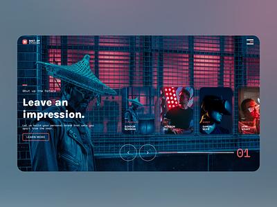 UI Exploration 2 - ShutUp Studios agency website web design ux ui