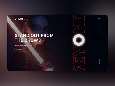 UI Exploration 5 - Creator ui ux agency website agency
