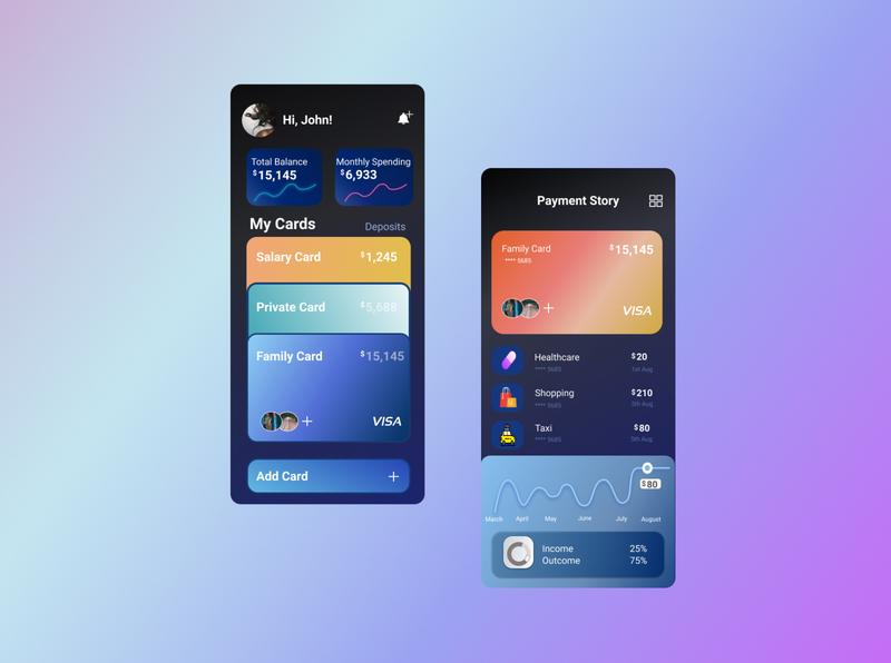 Salary Budget branding uiux mobile ui mobile app web design