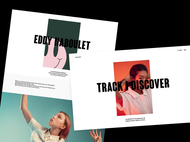 Project page - Personal Portfolio portfolio web interaction black typography webdesign ux ui website type design
