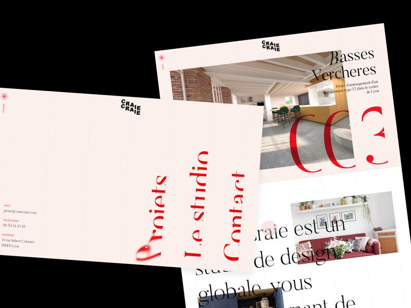 Craie Craie - Architect & Design Studio architecture architect animation typography webdesign ui type website design