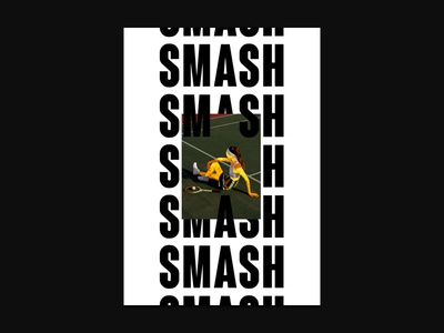 Smash - Poster Serie n°001 marble faceless tennis smash typography typographic type posters poster design poster graphic design